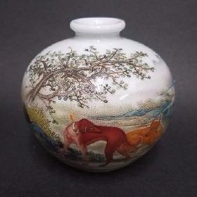 An Estate Chinese Porcelain Dog-portrait Vase