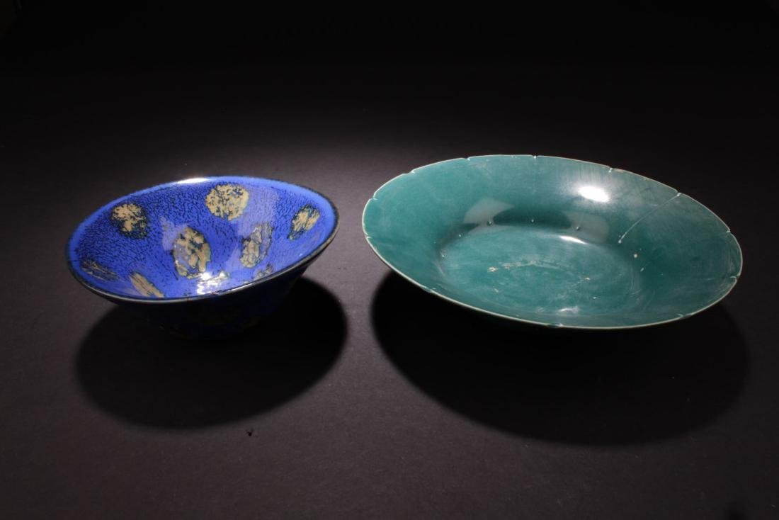 A Pair of Chinese Glazed Bowls