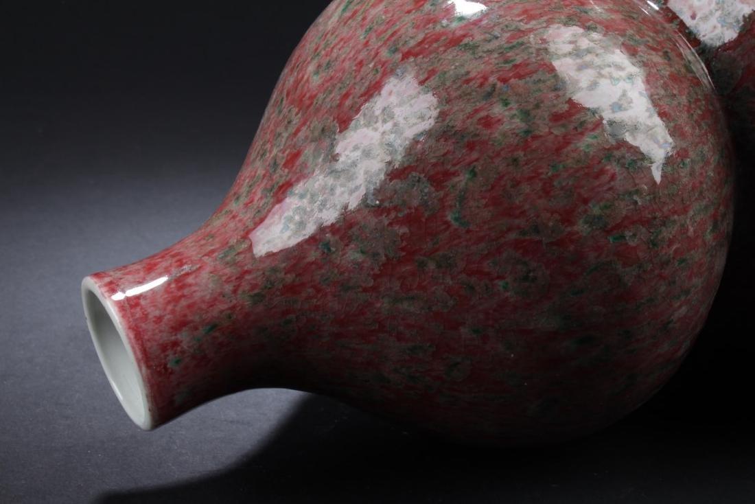 Chinese Glazed Double Gourd Vase - 4
