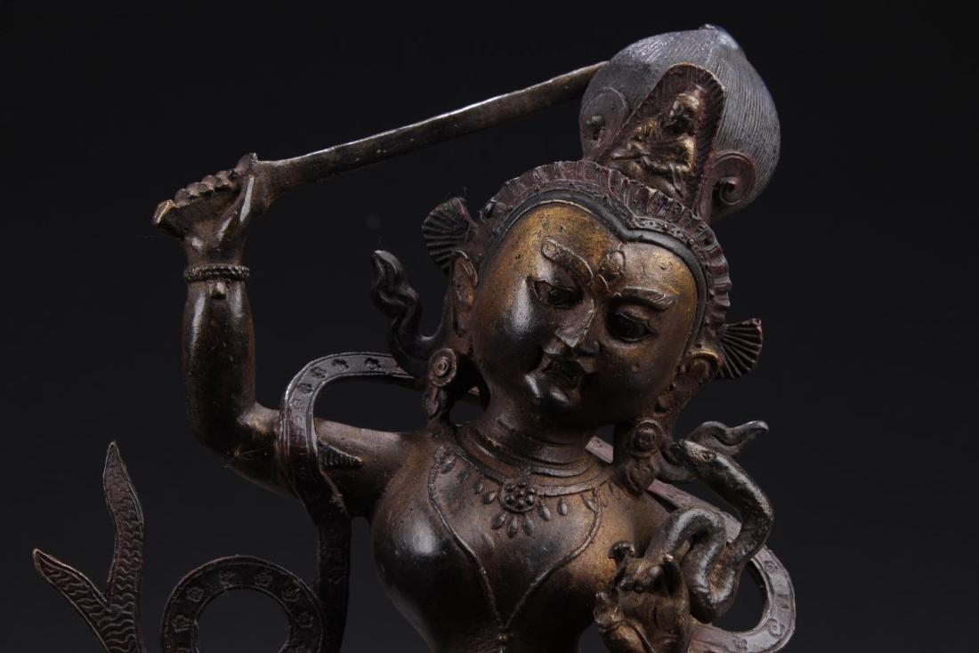Chinese Bronze Deity Statue - 2