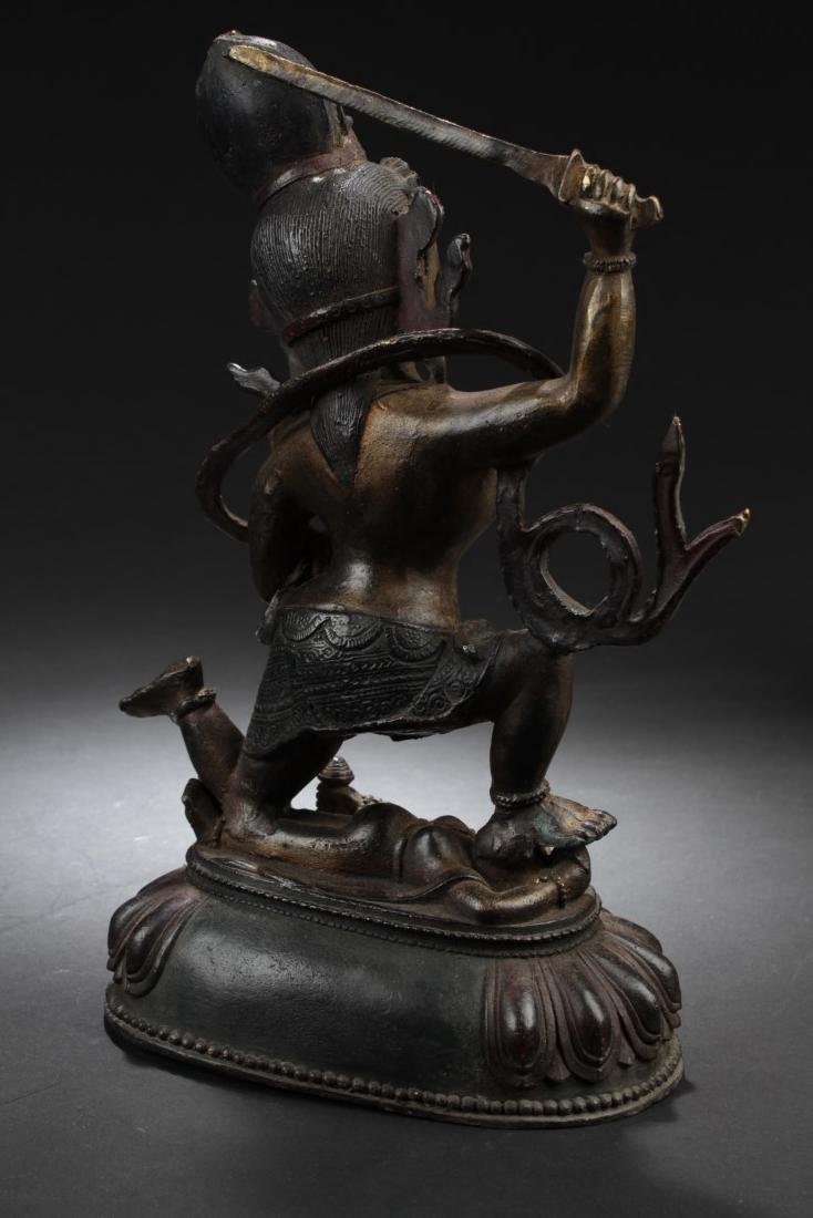 Chinese Bronze Deity Statue - 3