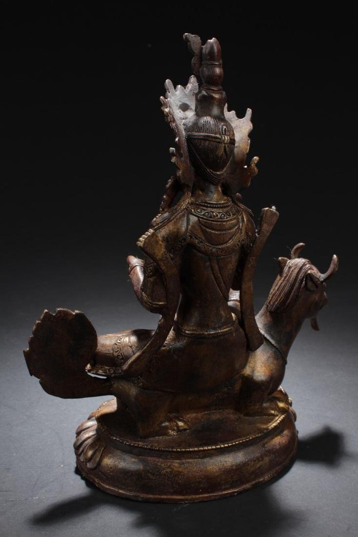 Chinese Bronze Bodhisattva Statue - 5