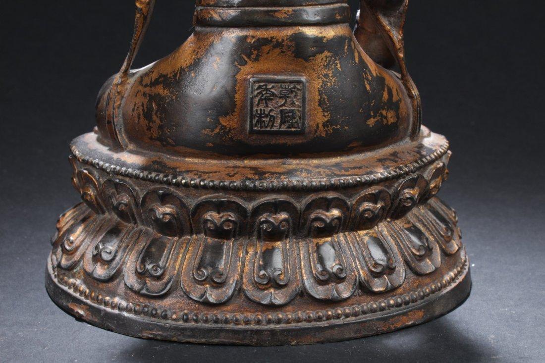 Chinese Bronze Buddha Statue - 6