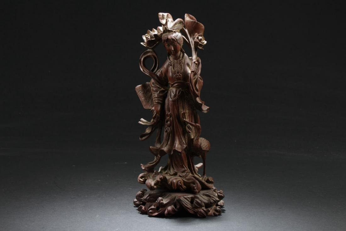 Antique Chinese Wood Carved Ornament