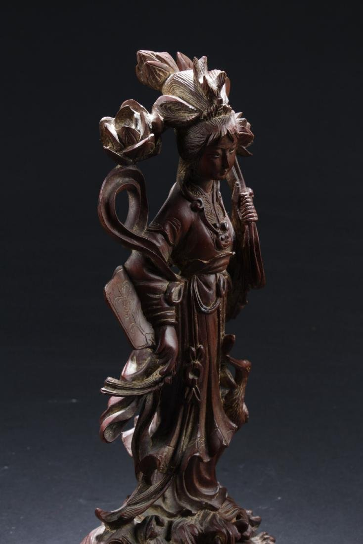 Antique Chinese Wood Carved Ornament - 4