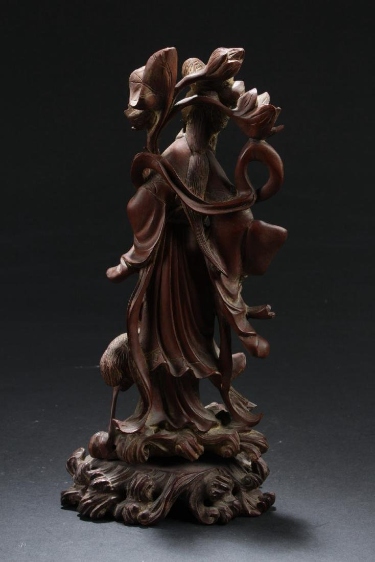 Antique Chinese Wood Carved Ornament - 5