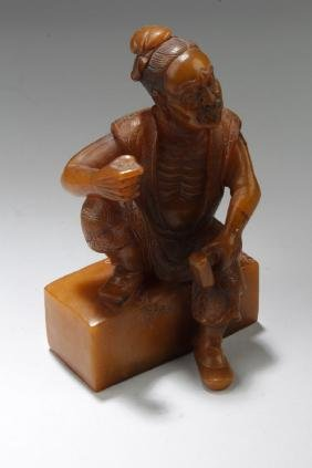 Chinese Soapstone Carving Ornament