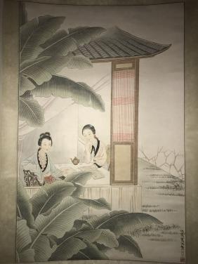 An Estate Ladies-portrait Painting Scroll