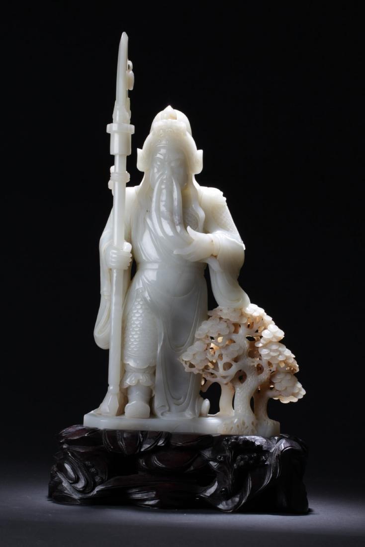 Chinese Jade Guanyu Statue