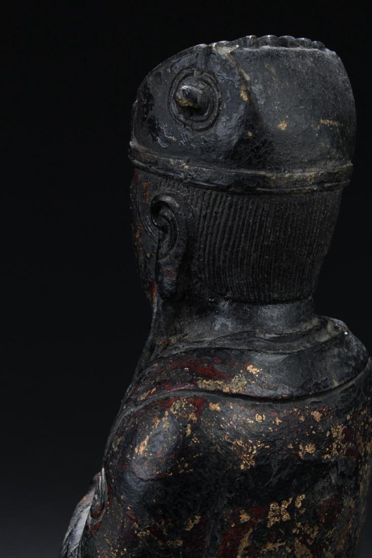 Chinese Bronze Deity Statue - 5