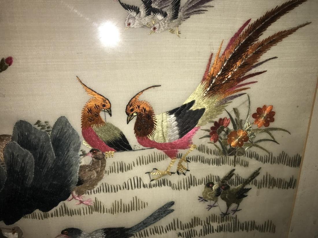 Chinese Framed Silk Embroidery Painting - 5