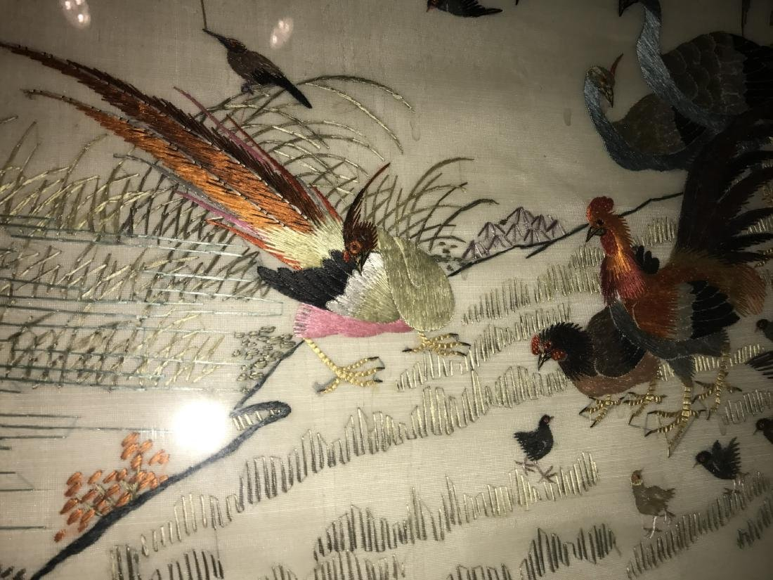 Chinese Framed Silk Embroidery Painting - 6