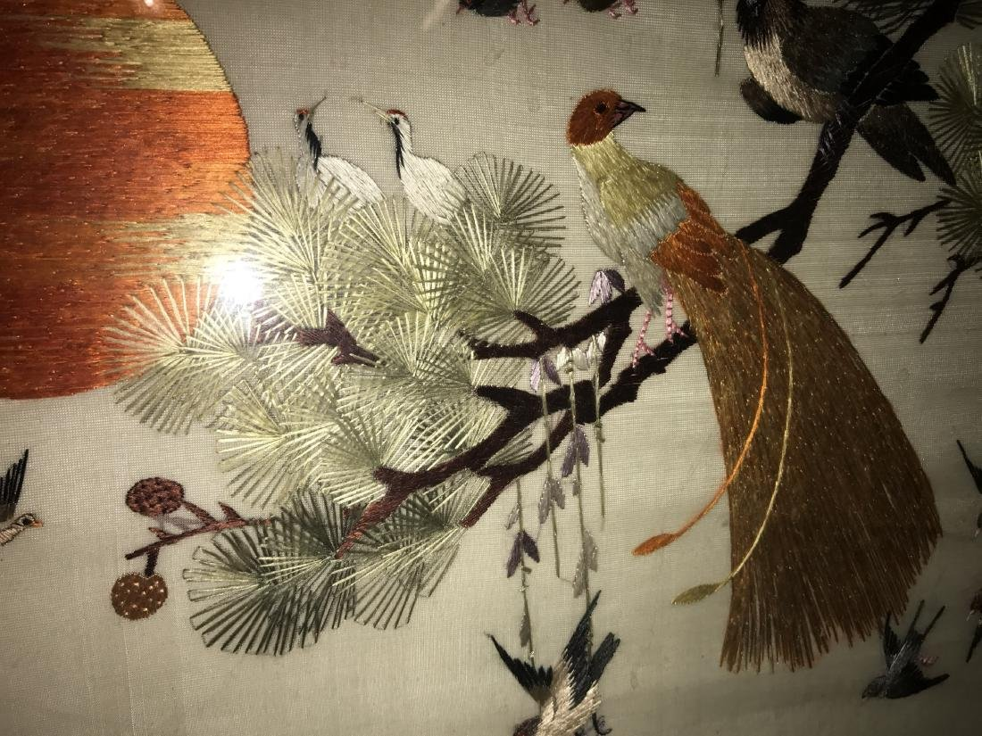 Chinese Framed Silk Embroidery Painting - 7