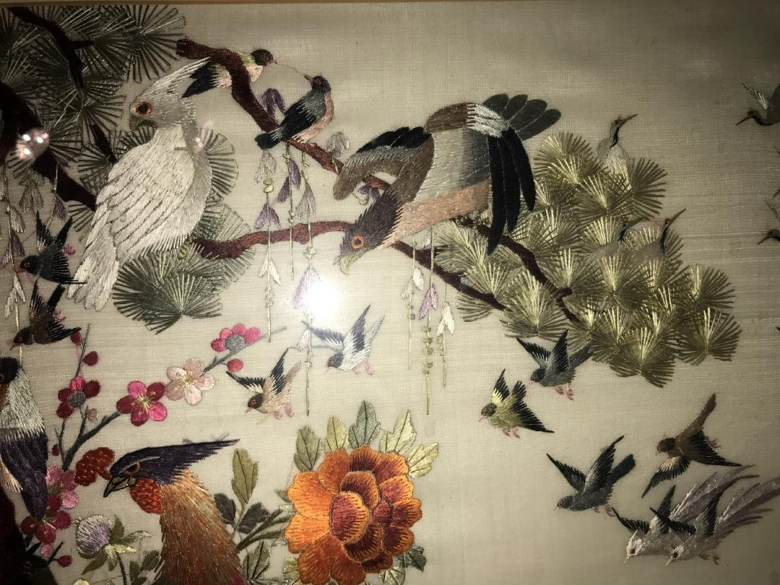 Chinese Framed Silk Embroidery Painting - 9