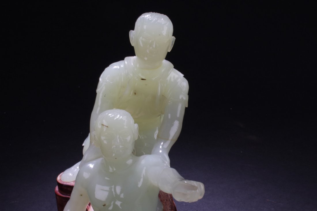 Chinese Jade Carved Statue - 6