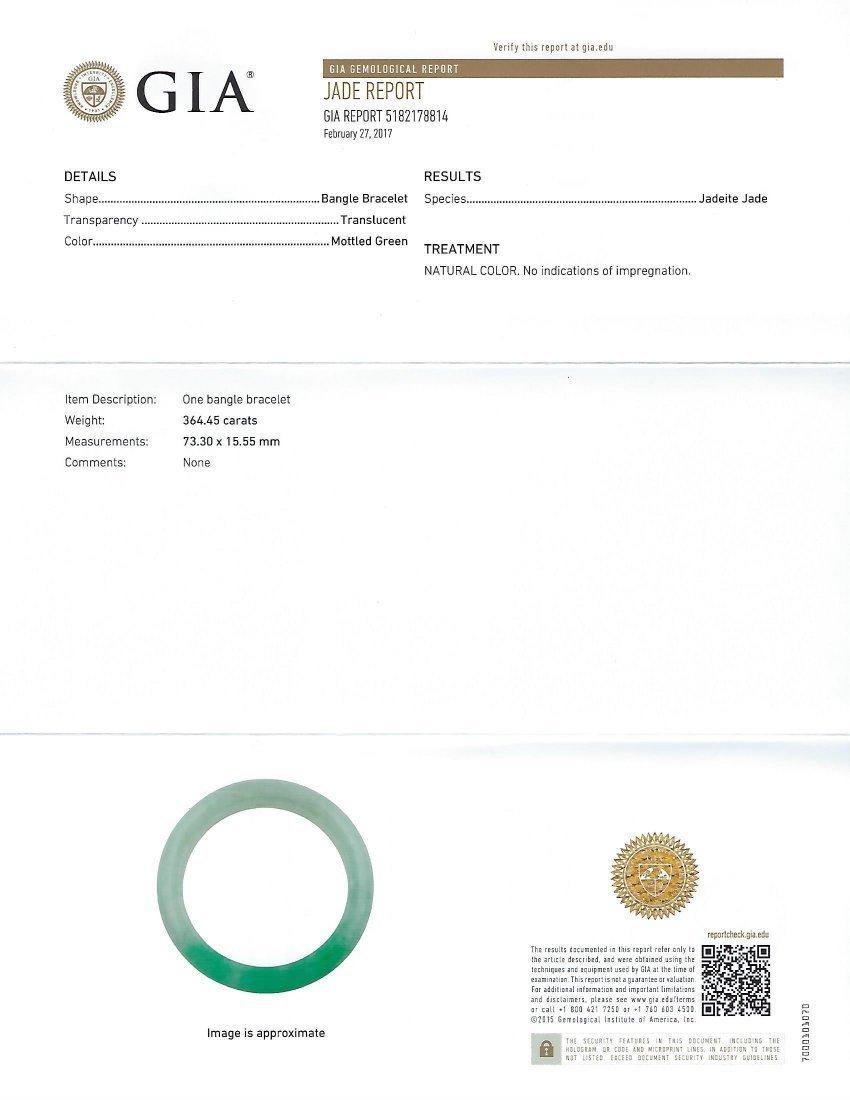 Chinese Jadeite Jade Bangle, GIA# 5182178814 - 4