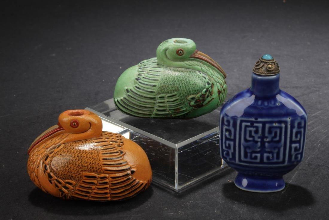 Three Chinese Snuff Bottles