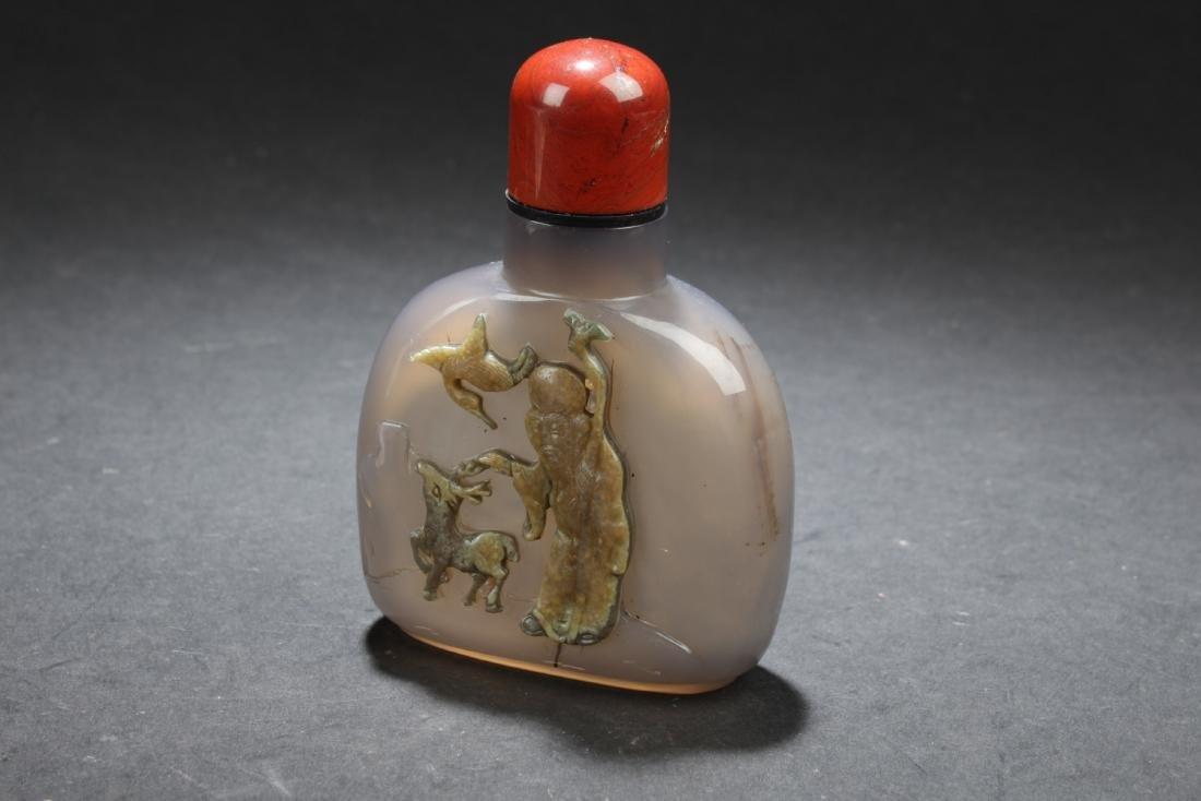 Chinese Amber Snuff Bottle