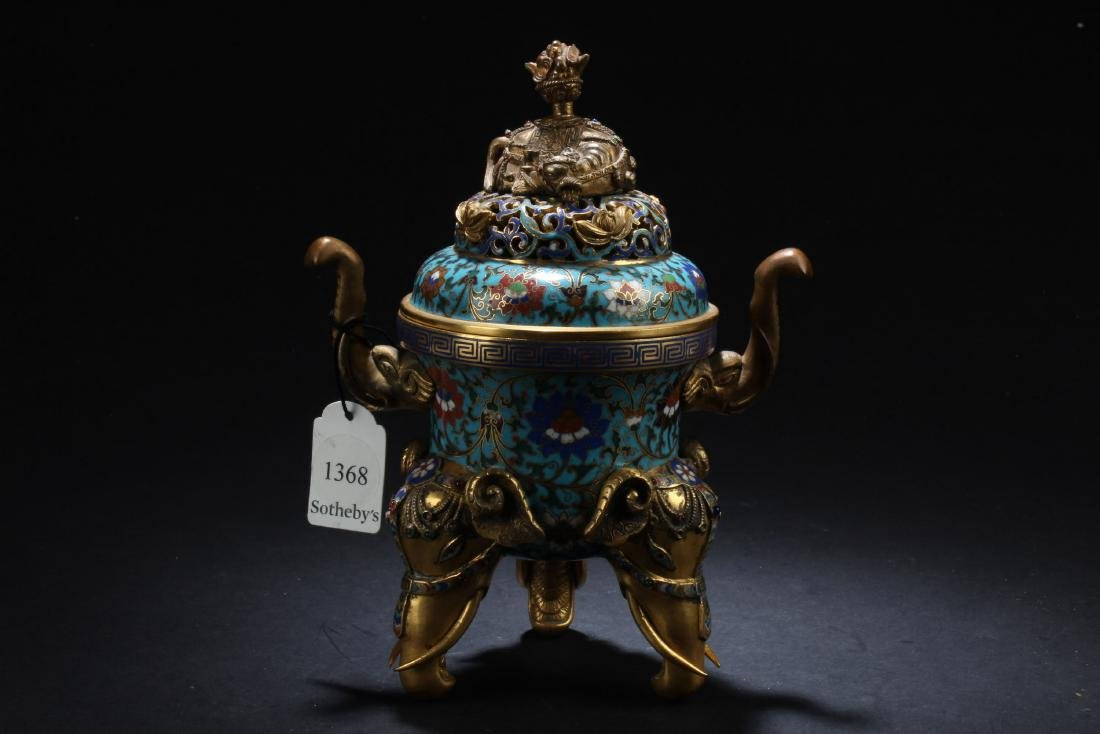 Antique Chinese Cloisonne Censer