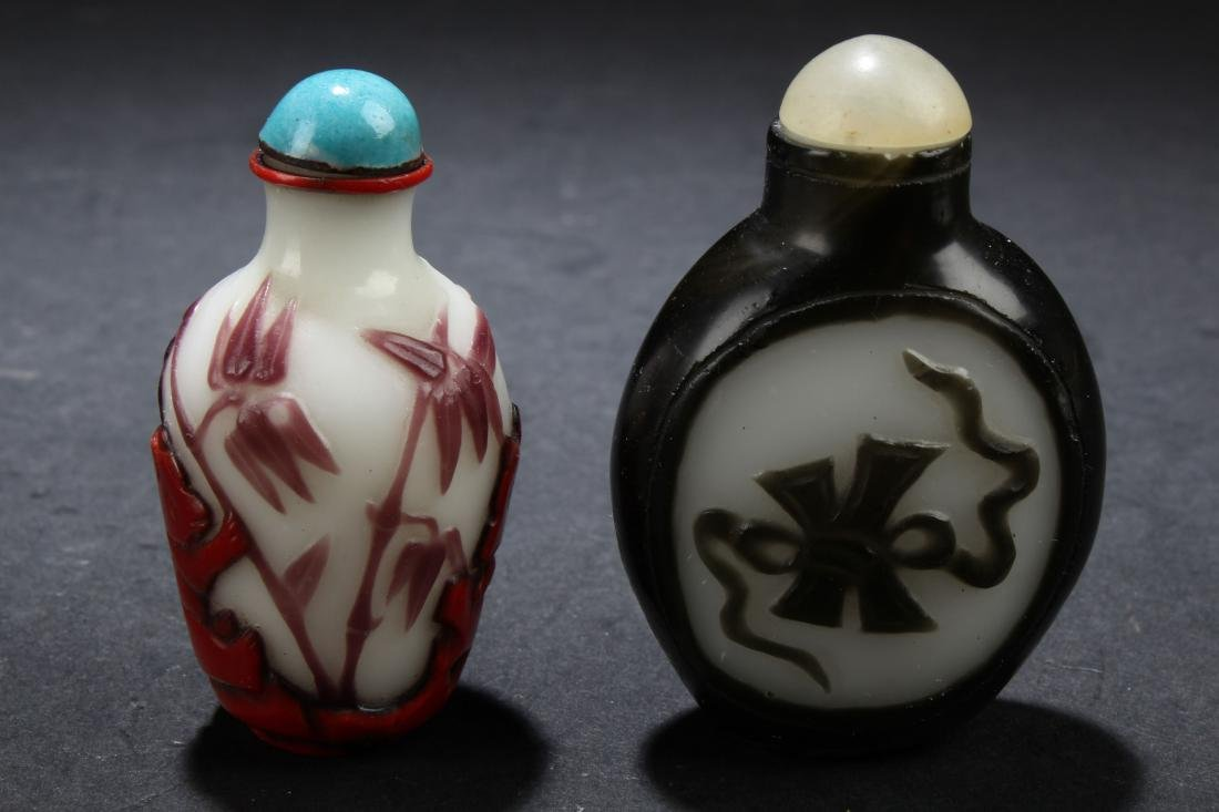 Two Chinese Estate Snuff Bottle Display