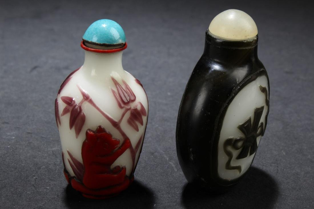 Two Chinese Estate Snuff Bottle Display - 2