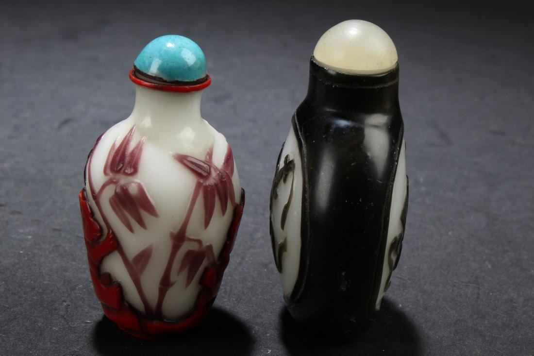 Two Chinese Estate Snuff Bottle Display - 4