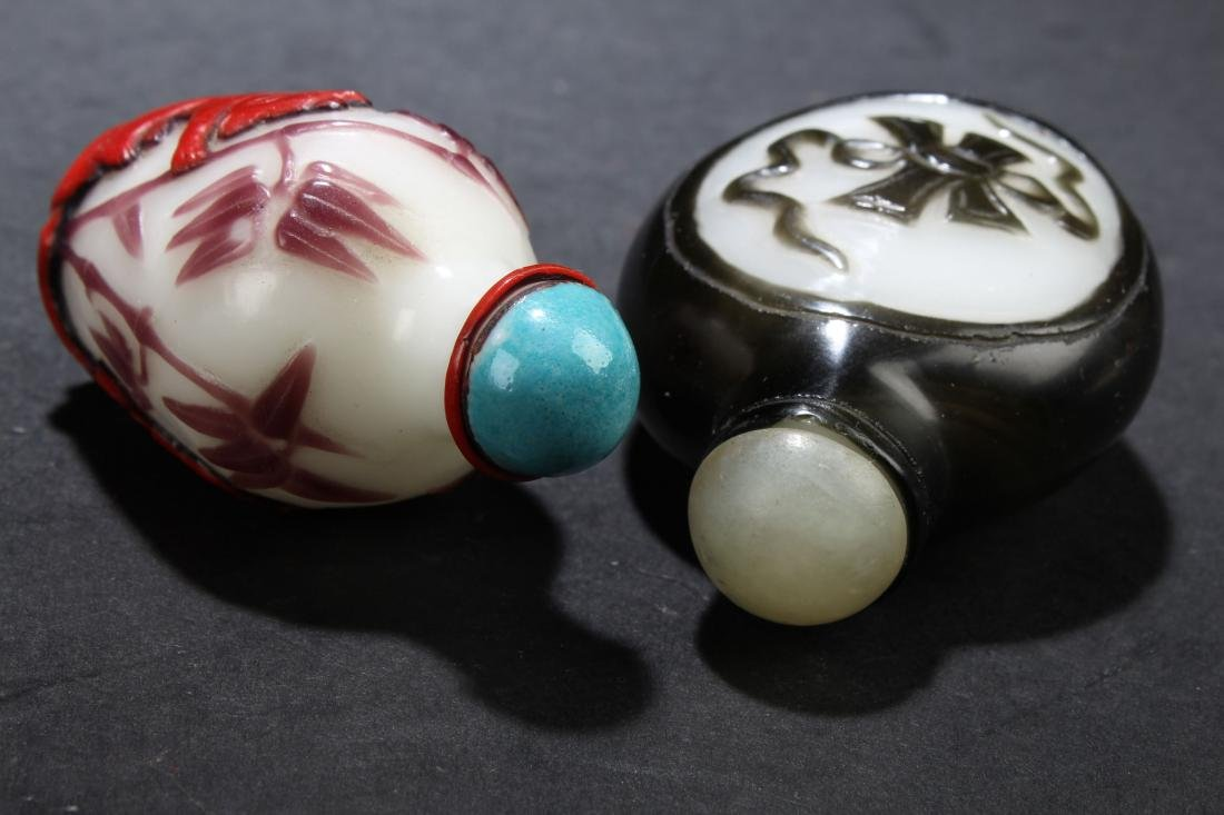Two Chinese Estate Snuff Bottle Display - 5