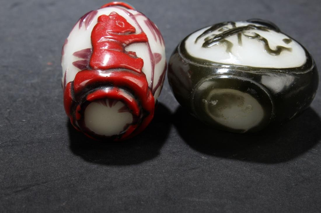 Two Chinese Estate Snuff Bottle Display - 6