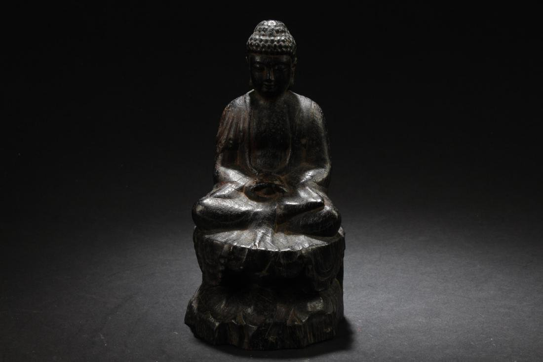 Chinese Wooden Carved Buddha Statue