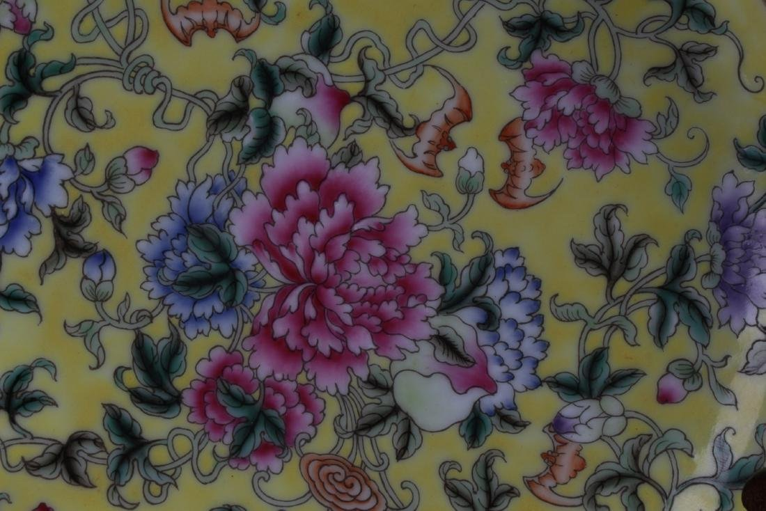 Chinese Famille Jaune Porcelain Plate - 2