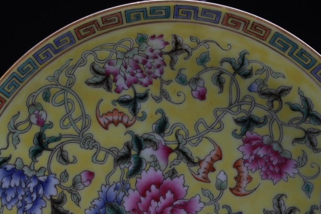 Chinese Famille Jaune Porcelain Plate - 3