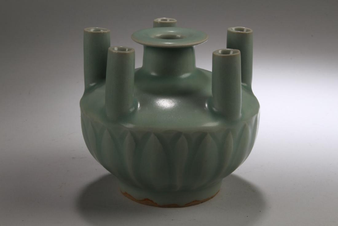 Chinese Enamel Five Hole Vase