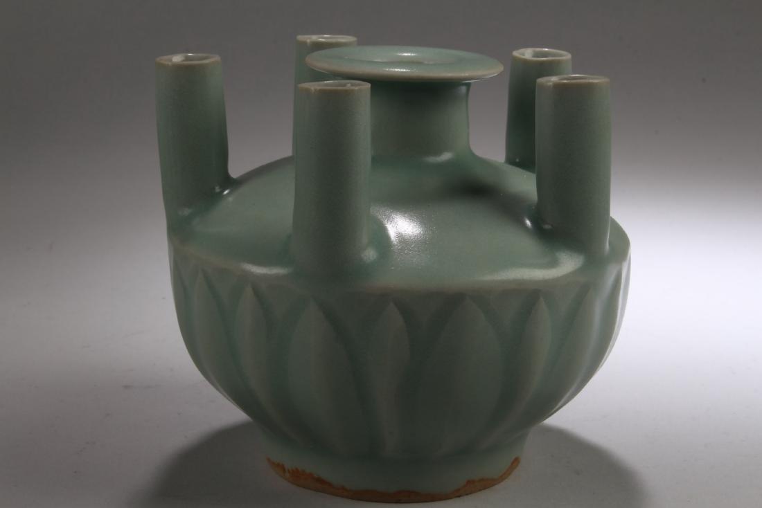 Chinese Enamel Five Hole Vase - 2
