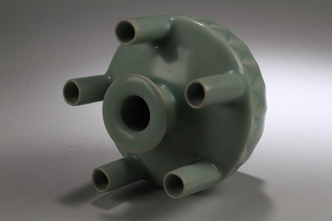 Chinese Enamel Five Hole Vase - 3