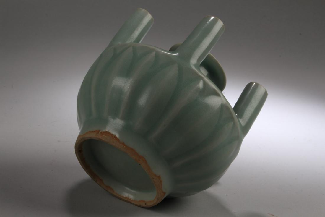 Chinese Enamel Five Hole Vase - 4