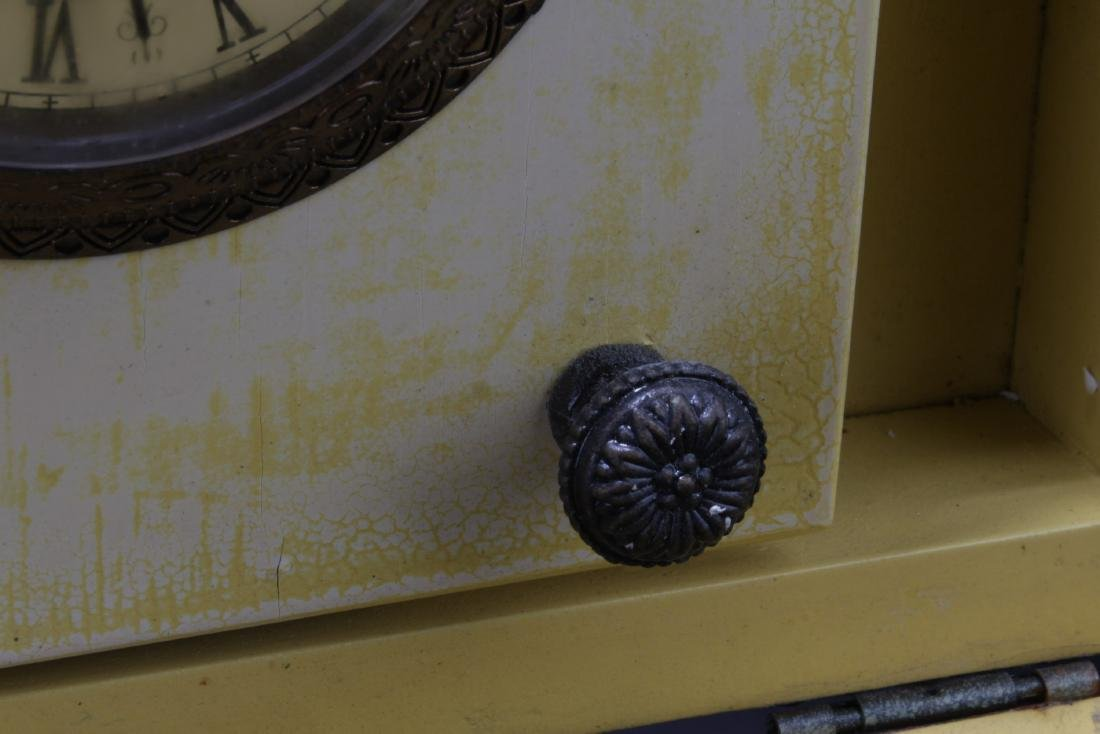 Chinese Wooden Clock Box filled with coins - 4