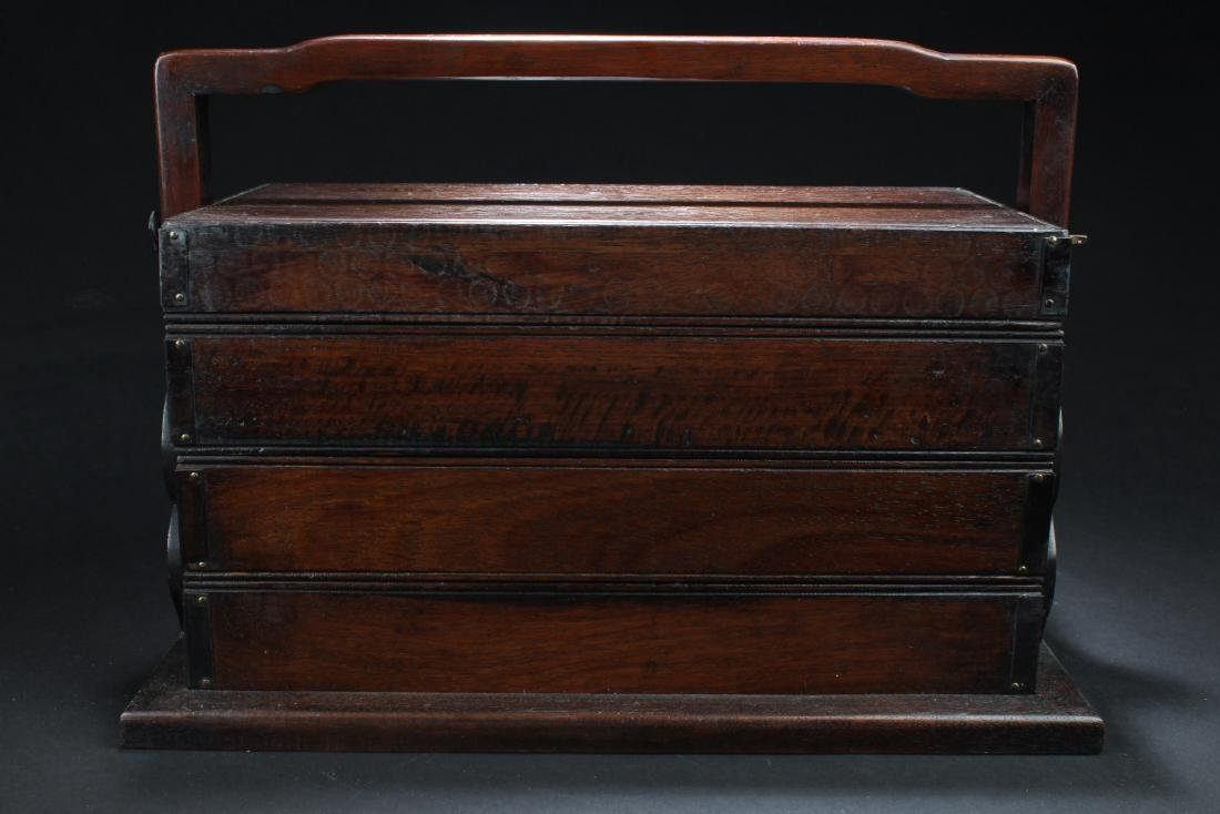 Chinese Hardwood Multi-Tier Box