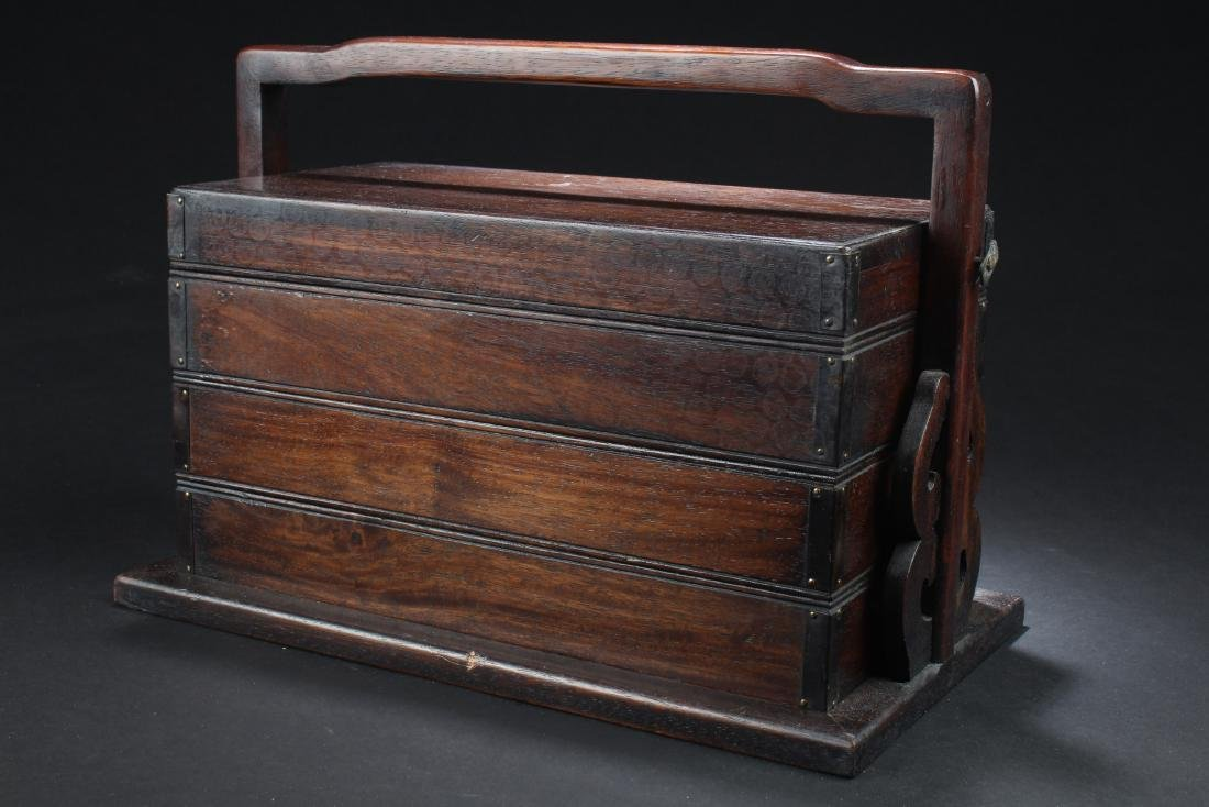 Chinese Hardwood Multi-Tier Box - 6