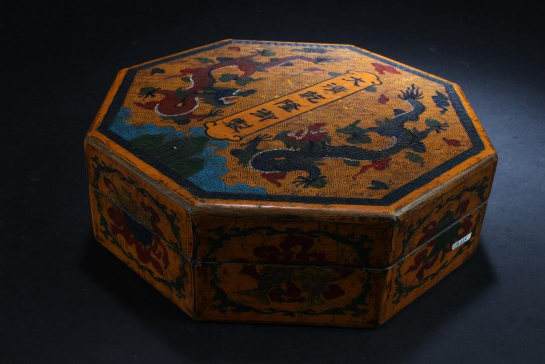 Chinese Lacquered Octagonal Shaped Treasure Box - 2