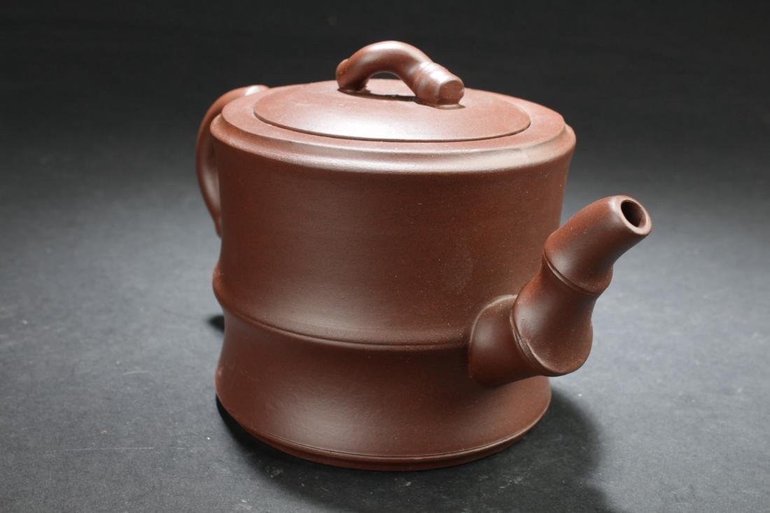 An Estate Chinese Tea Pot Display - 4