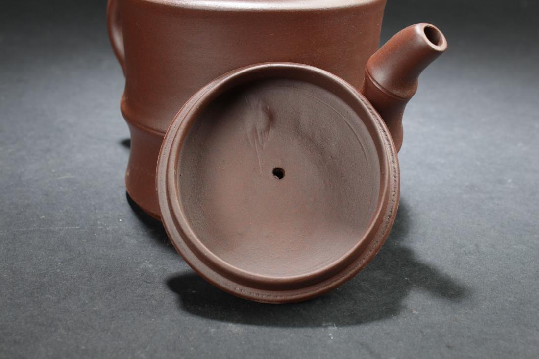 An Estate Chinese Tea Pot Display - 5
