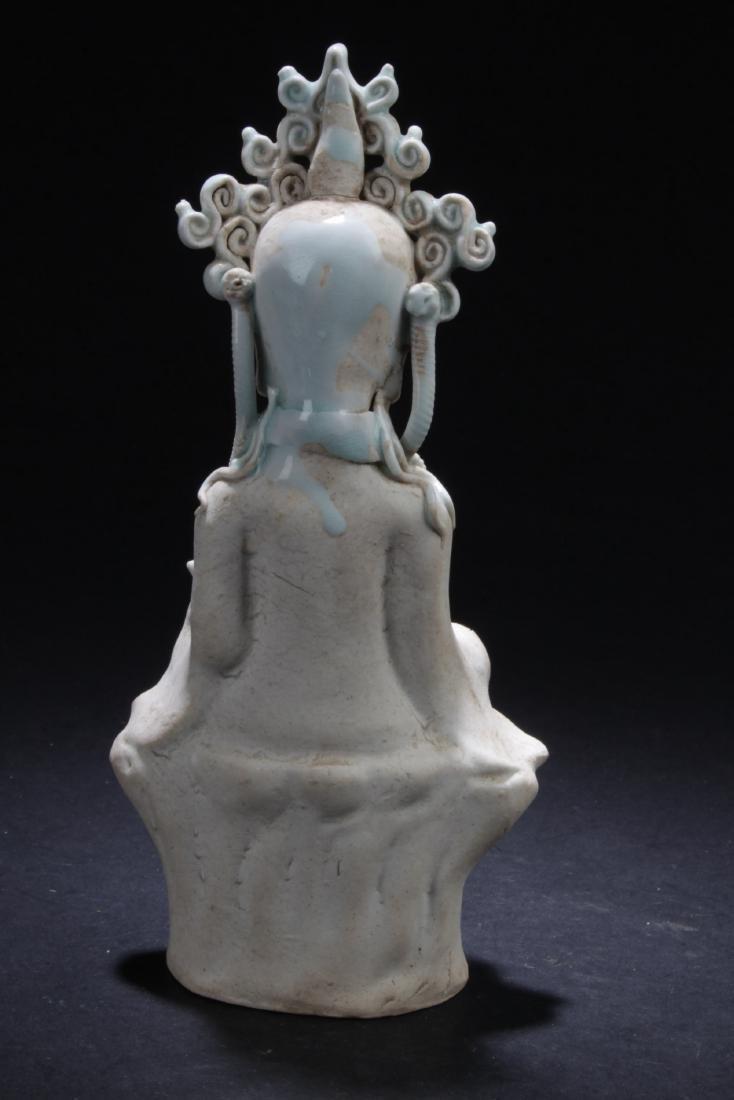 Chinese Porcelain Bodhisattva Statue - 4