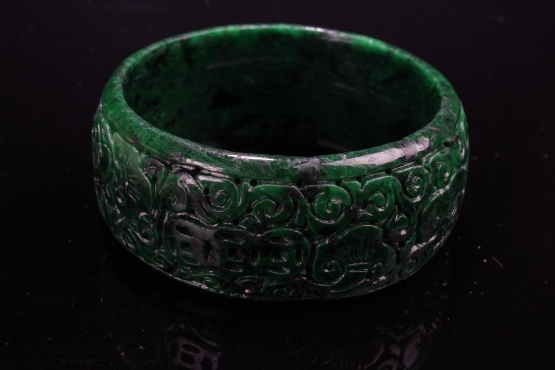 Chinese Jadeite Jade Bangle