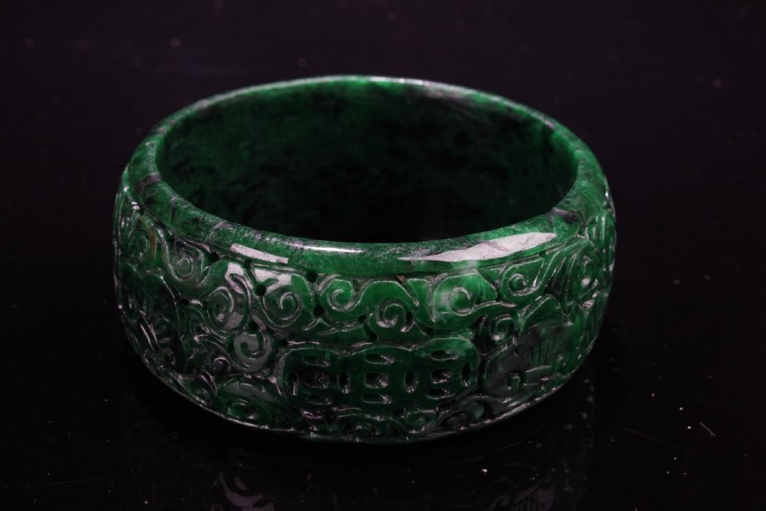 Chinese Jadeite Jade Bangle - 2