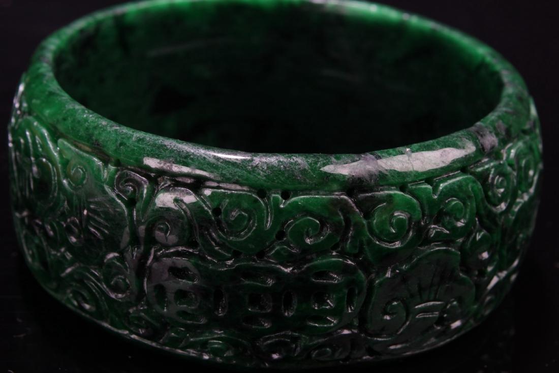 Chinese Jadeite Jade Bangle - 4