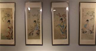 A Group of Four Chinese Framed Painting