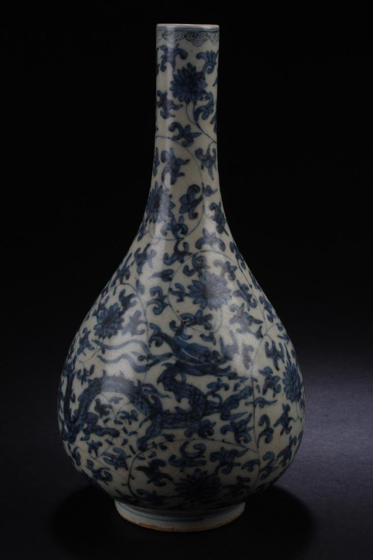 Chinese Blue & White Vase - 2