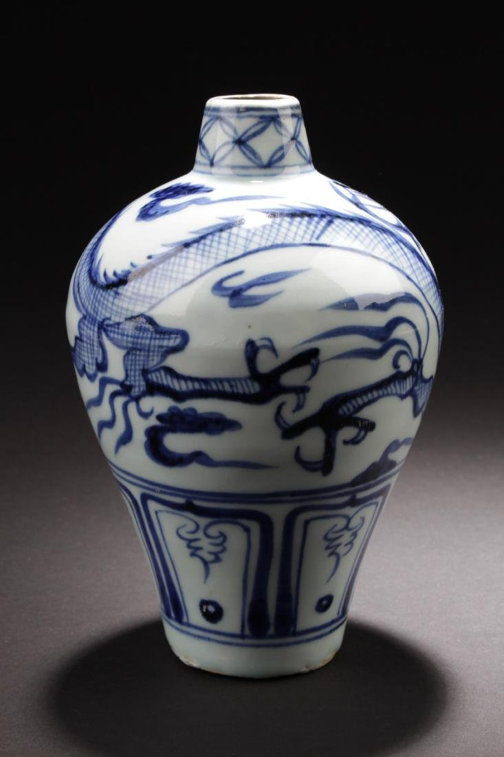 Chinese Blue & White Meiping Vase