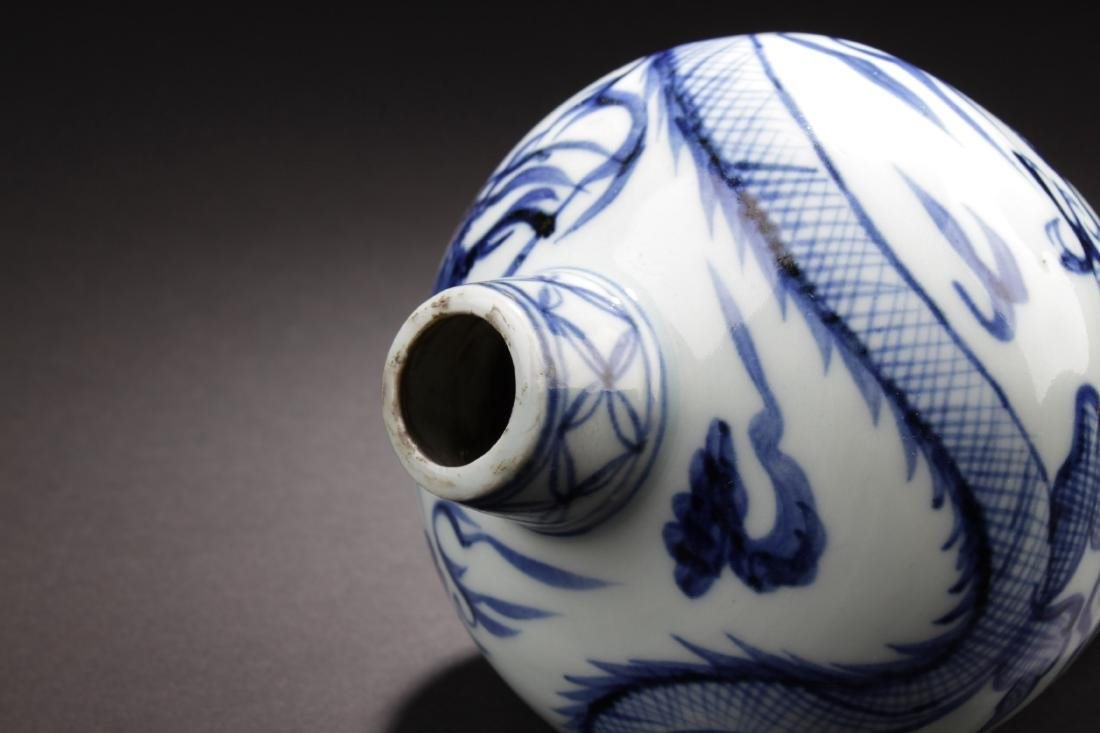 Chinese Blue & White Meiping Vase - 3