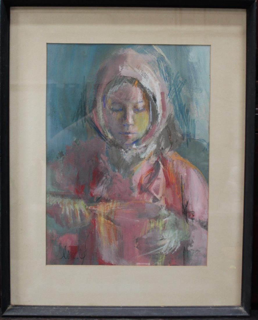 A Framed Water Color Painting